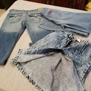 Lot of Fashion Denim w Rips & Stains